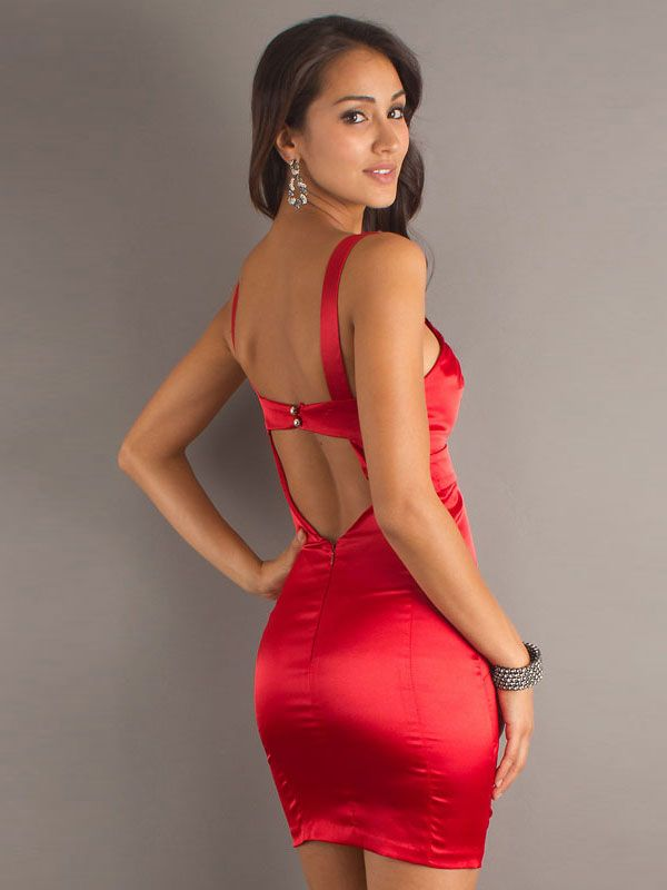 Tight Red Dresses for Women | ... / Column V-neck Beading Red ...