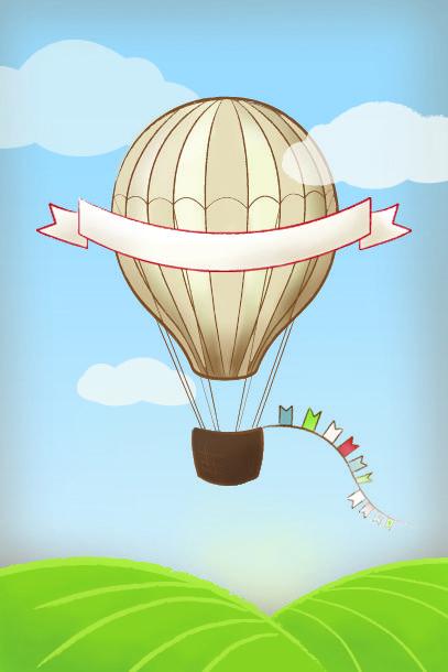 Hot Air Balloon Invite Vintage Blank Jpg 407 610 Dibujo De Globo Aerostatico Dibujos De Globos Globos