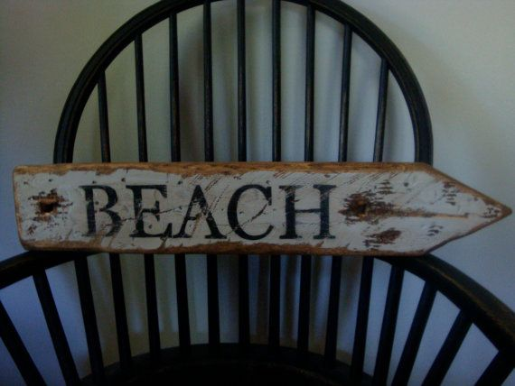 Rustic Distressed 2 ft Directional Beach by TheUnpolishedBarn, $36.99