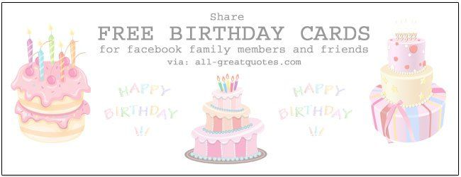 Free Birthday Cards Facebook Family Friends – Birthday Cards for Facebook Free