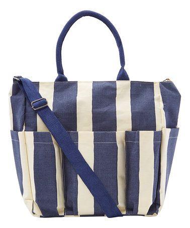 Navy Cabana Stripe Weekender This is the best beach bag EVER ...