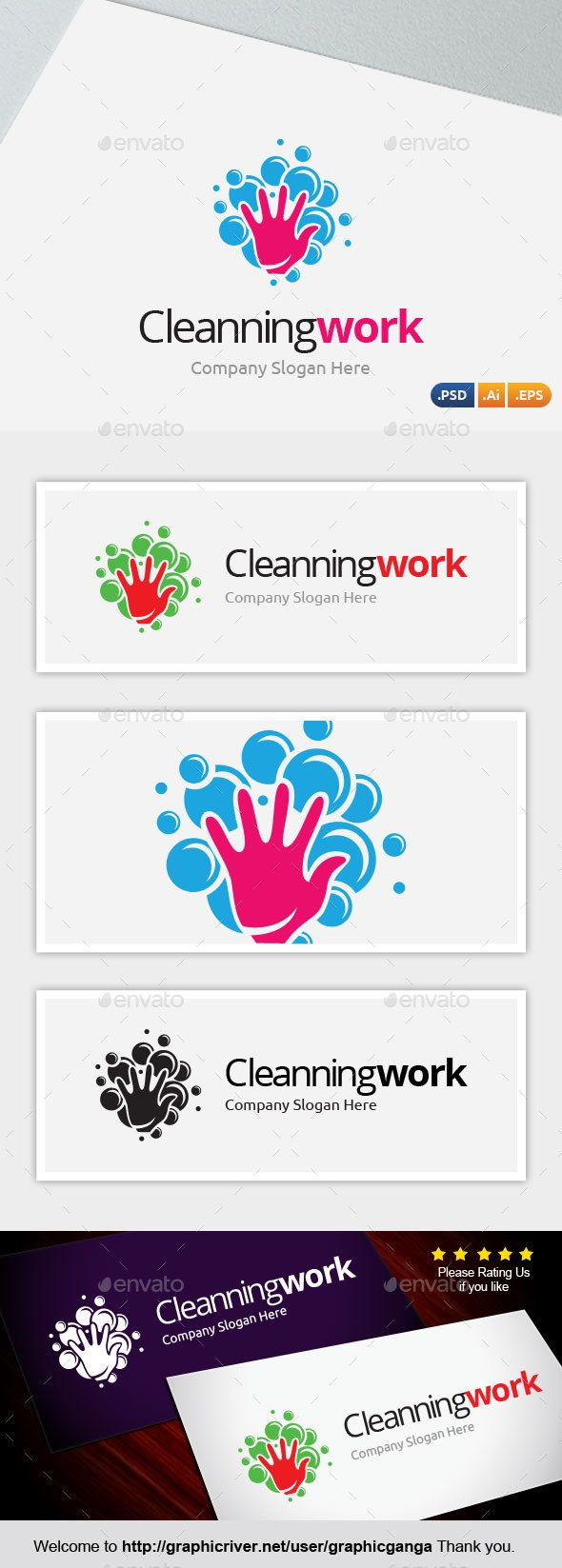 Cleanning Work - Abstract Logo Templates Download here : https ...
