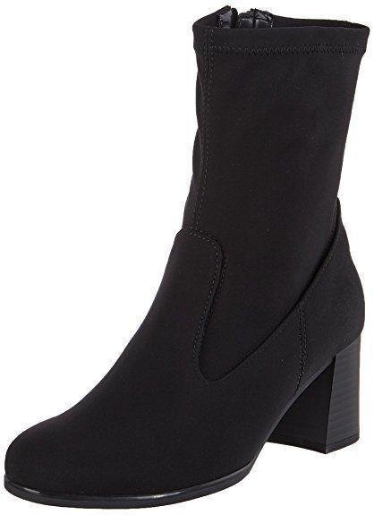 Gabor Shoes Damen Gabor Basic Stiefel, Schwarz (47 Schwarz