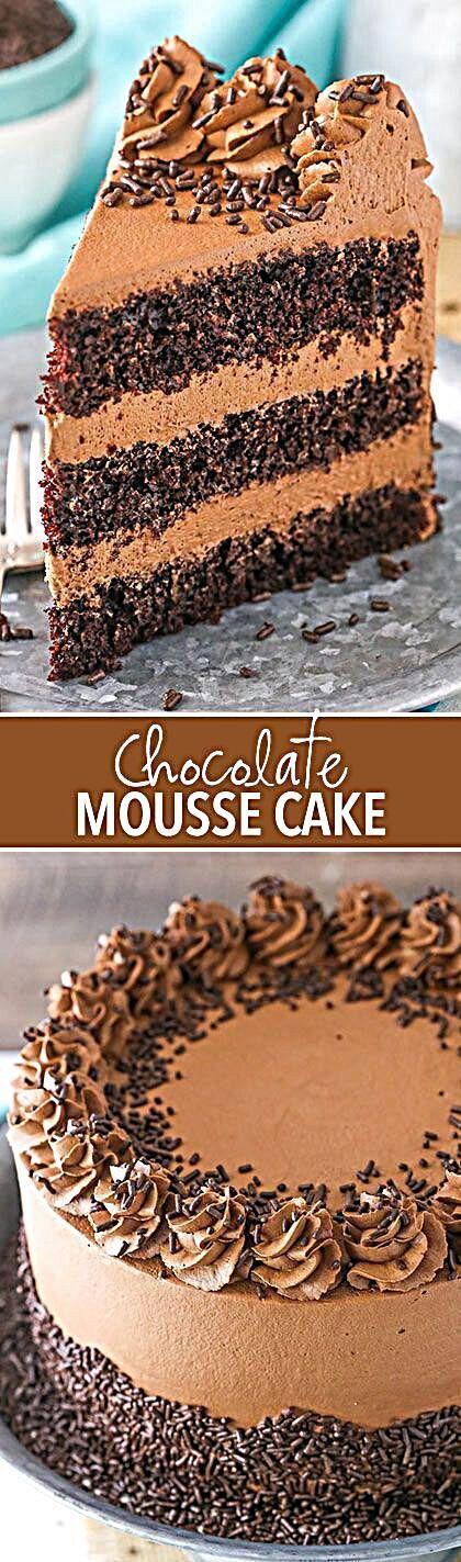 Chocolate Mousse Cake Resep Kue Coklat Hidangan Penutup Makanan Penutup Coklat