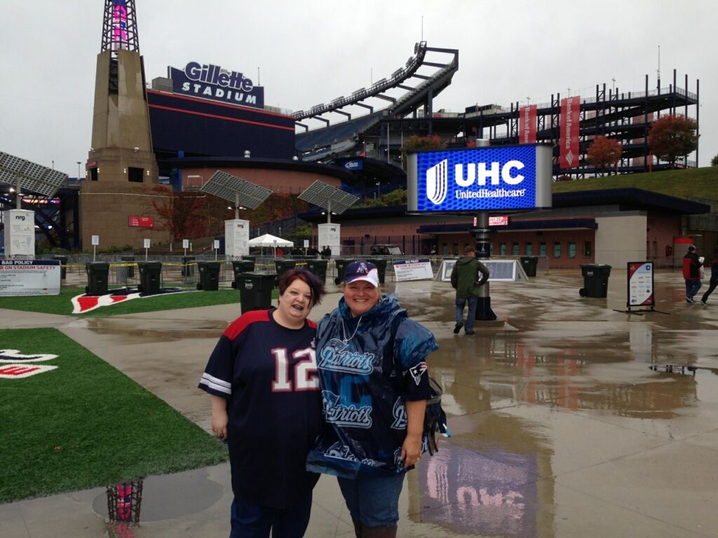 With Patti ... Best Day Ever at Gillette Stadium. ❤️