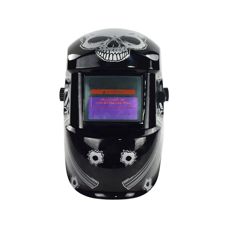 Head mounted argon arc welding cap connected with solar energy automatic photoelectric welding mask