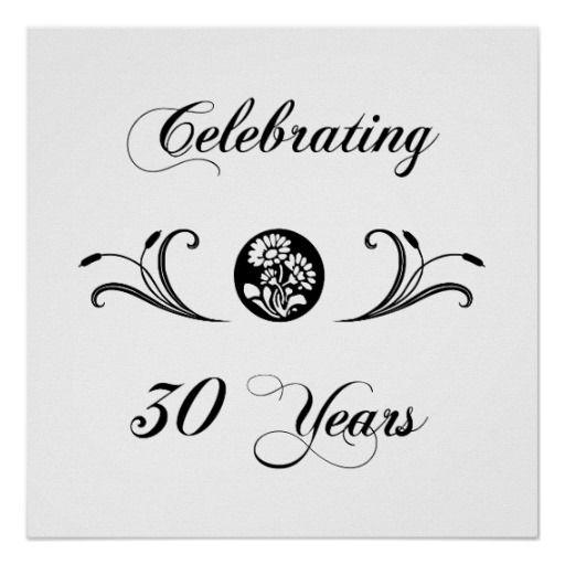 30 Year Anniversary Symbol: 30th Wedding Anniversary Symbol