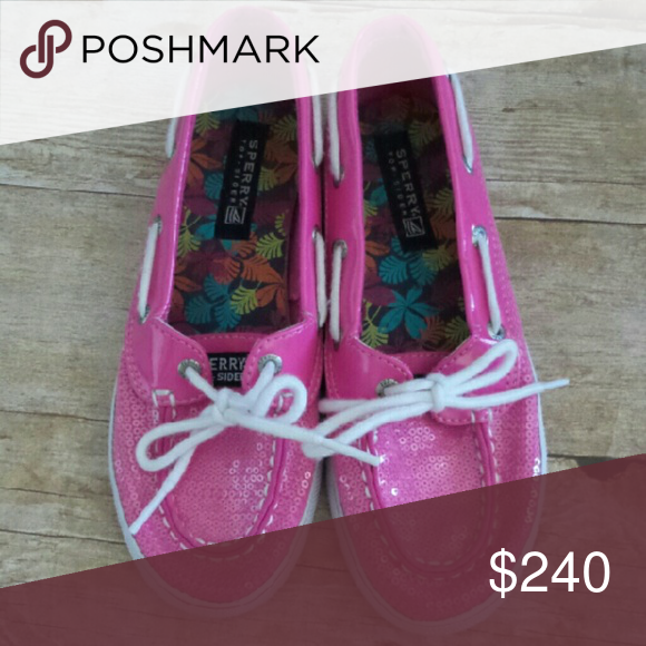 COMING SOON Girls' Sperry Topsiders Pink sequin Sperrys in very good condition.   Price will drop to $24 when more pics and details are added. Sperry Top-Sider Shoes