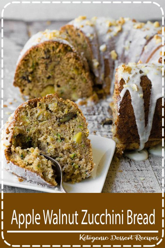 Apple Walnut Zucchini Bread Apple Walnut Zucchini Bread ~ if you could pack late summer/early fall into a bundt pan and bake it up, this would be what you'd get, a moist cake loaded with shredded zucchini, crunchy walnuts, and tart chunks of Granny Smith apple.