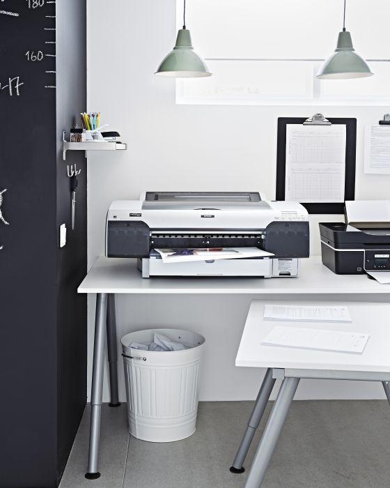 Galant Bureau Ikea Werkplek Kantoor Bureau Wit Interiors