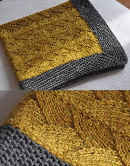Photo of Brickstreet Blanket – Strickmuster