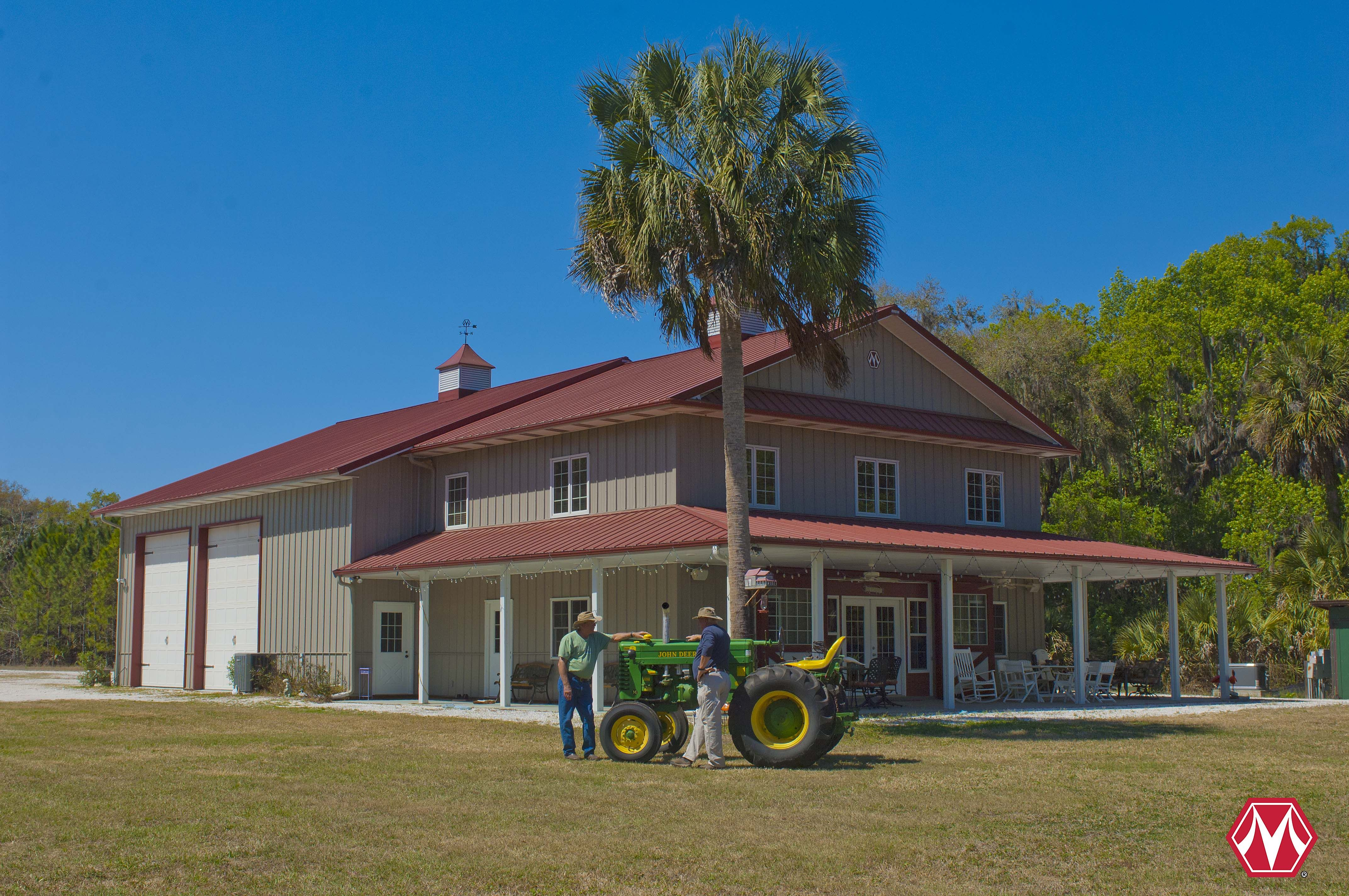 Morton Buildings Hobby Building In Florida Metal Barn Homes Pole Barn House Plans Barn House Plans