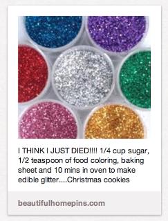 edible glitter.