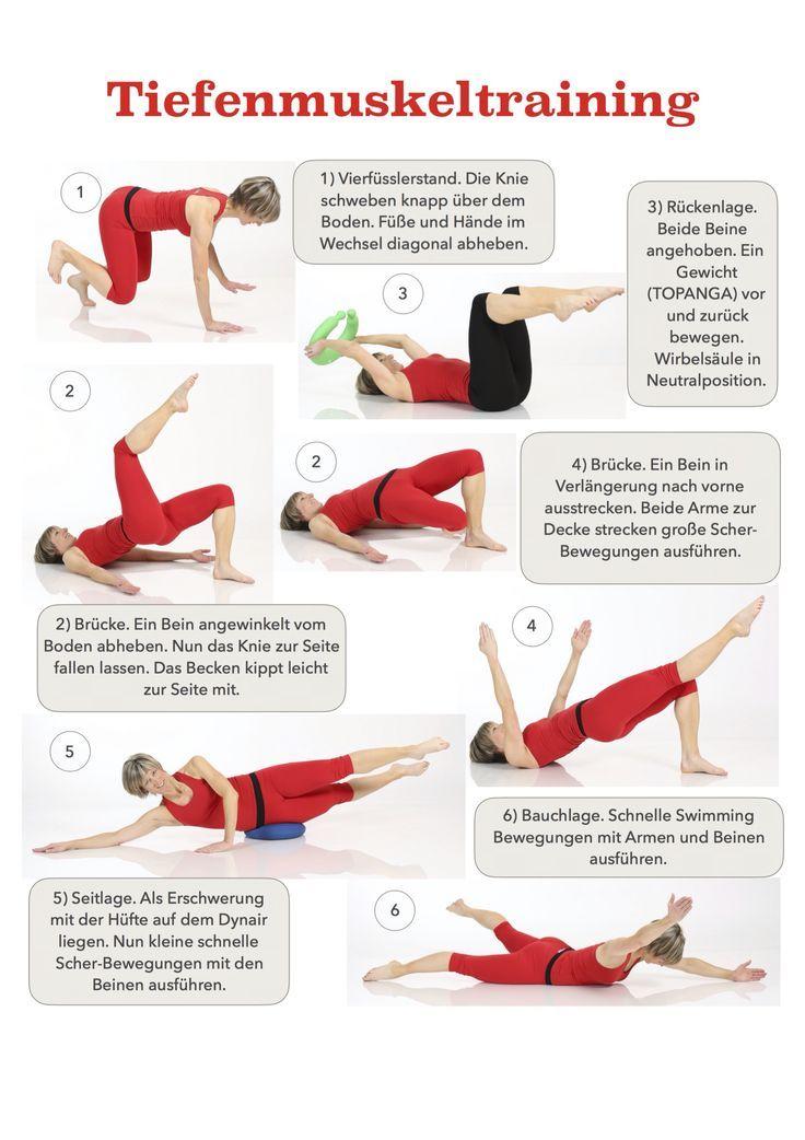 Tiefenmuskeltraining für eine aufrechte Haltung! Gabi Fastner #cardioyoga