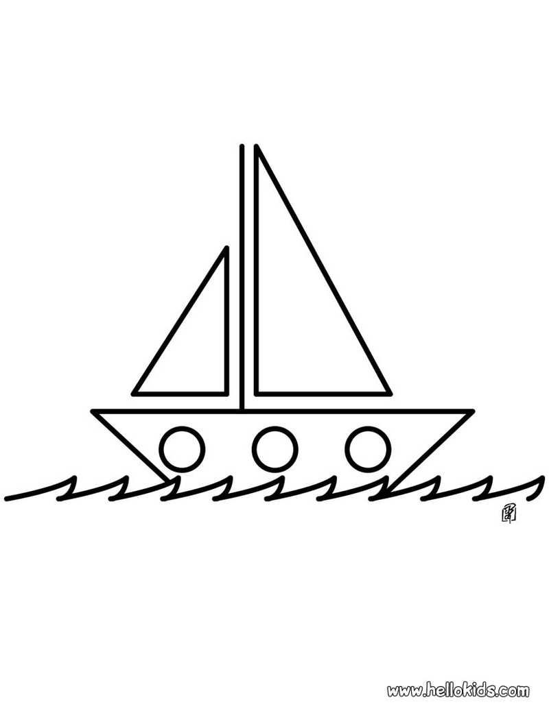 Printable Boat Coloring Pages Boat Drawing Coloring Pages