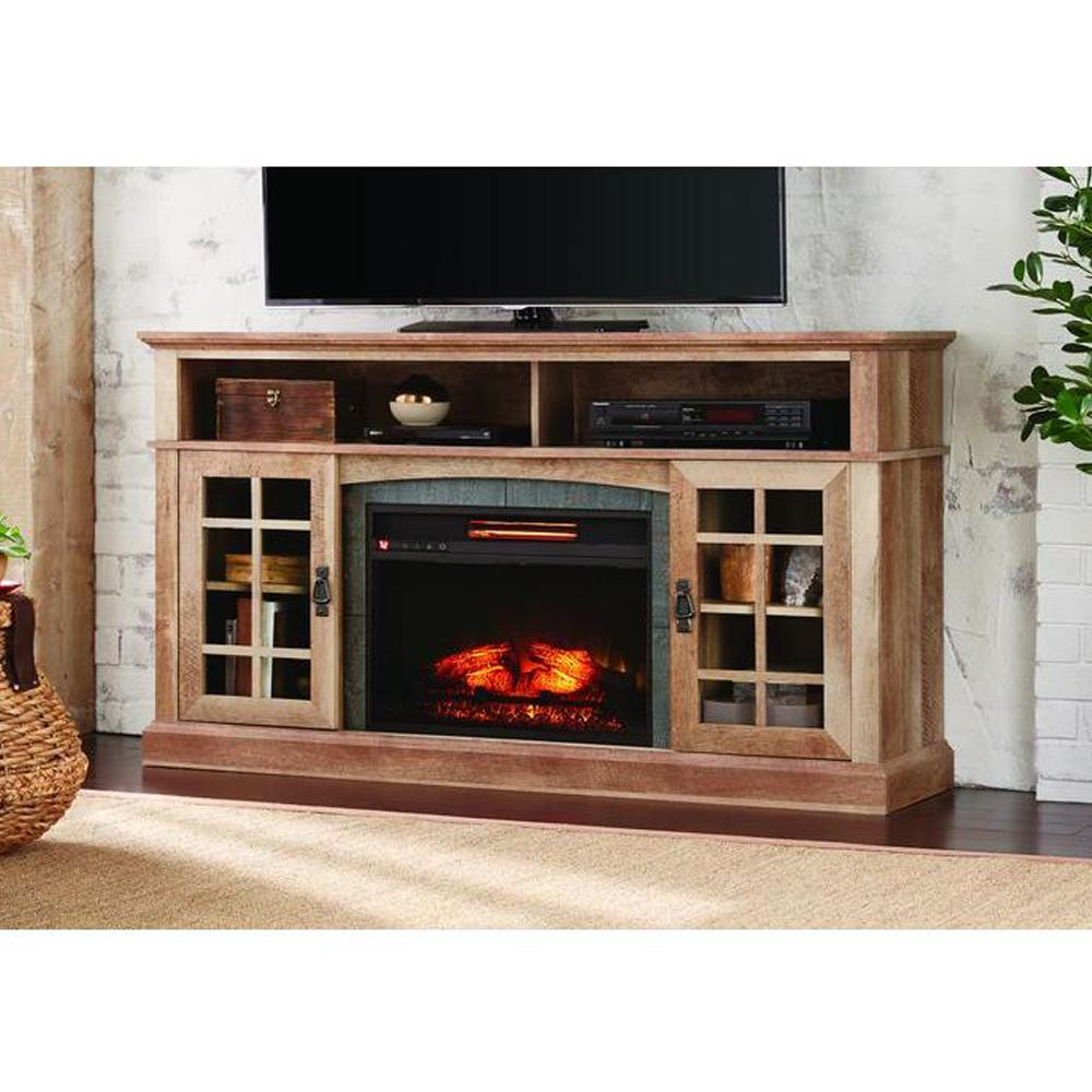 Brookdale 60 In Media Console Infrared Electric Fireplace