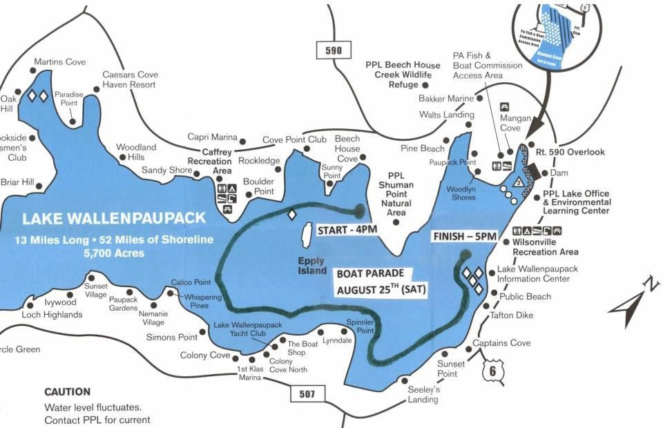 Boat parade route for wally lake fest the 2013 wally lake for Lake wallenpaupack fishing