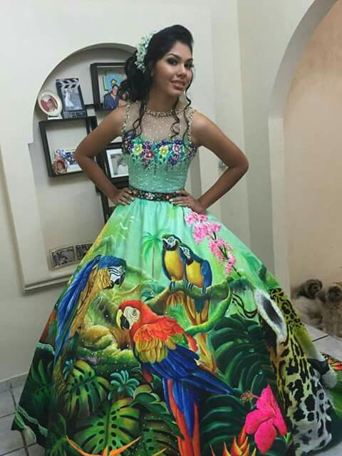 Vestido Pintado A Mano En 2019 Vestidos Pintados A Mano