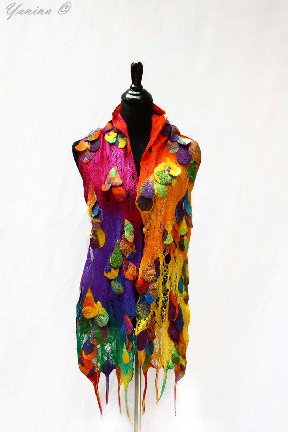 Farb-und Stilberatung mit www.farben-reich.com Felted scarf