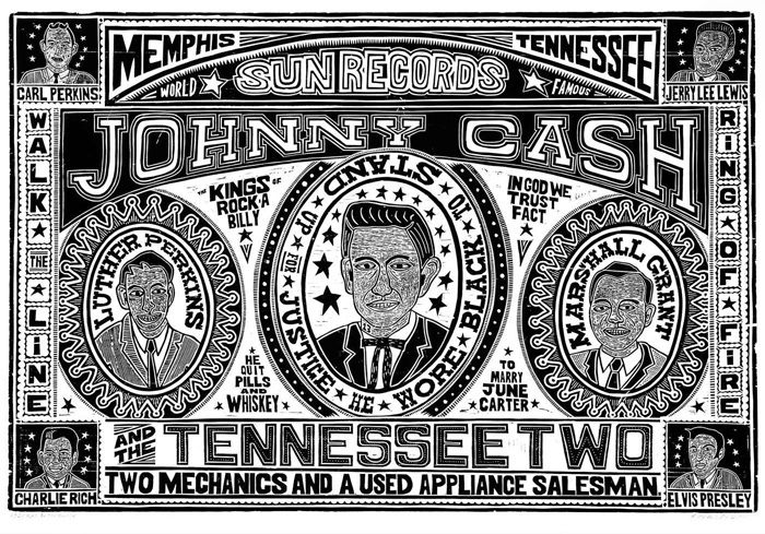Print Shop Of The Week Yeehaw Industries Johnny Cash