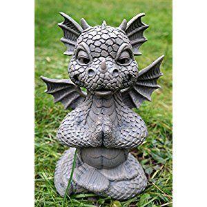 Figurine Statue de dragon Lotus Méditation Yoga pour décoration de ...