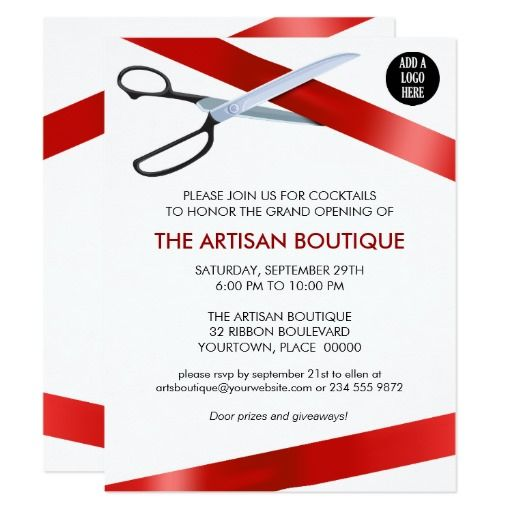 ribbon cutting flyer template