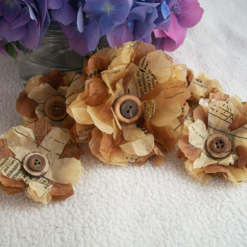 pattern paper flowers. Gorgeous! | Fabric & Paper Flowers ...