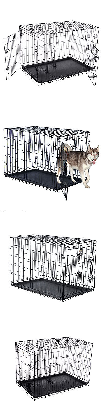 Cages And Crates 121851 Pet Trex 42 Folding Pet Crate Kennel Wire