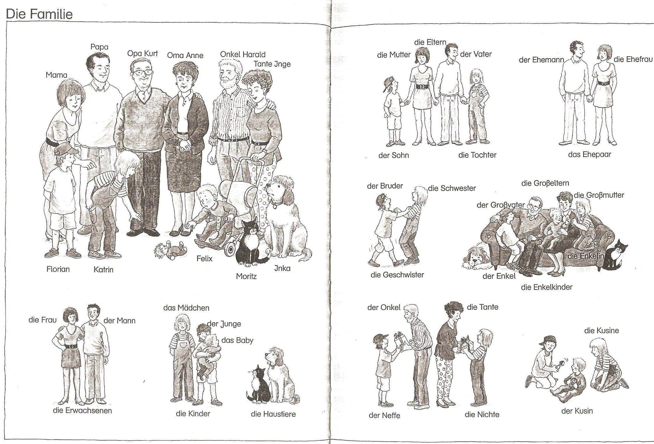 Familie Bilderwörterbuch | Deutsch Materialien | Pinterest | German ...