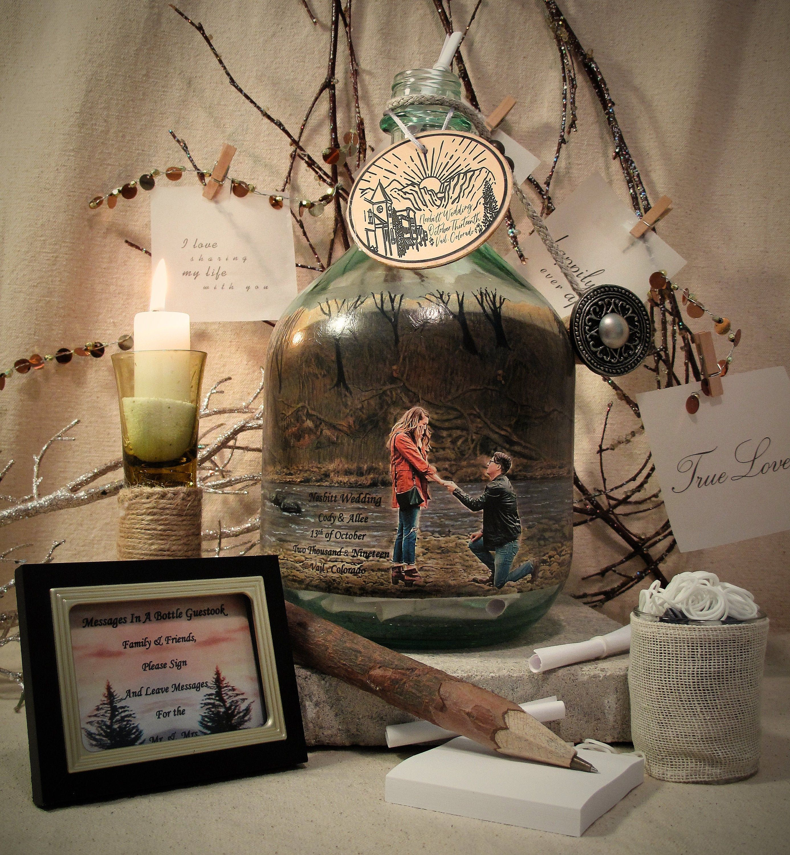 The Proposal, Messages In A Bottle Guestbook Or Well