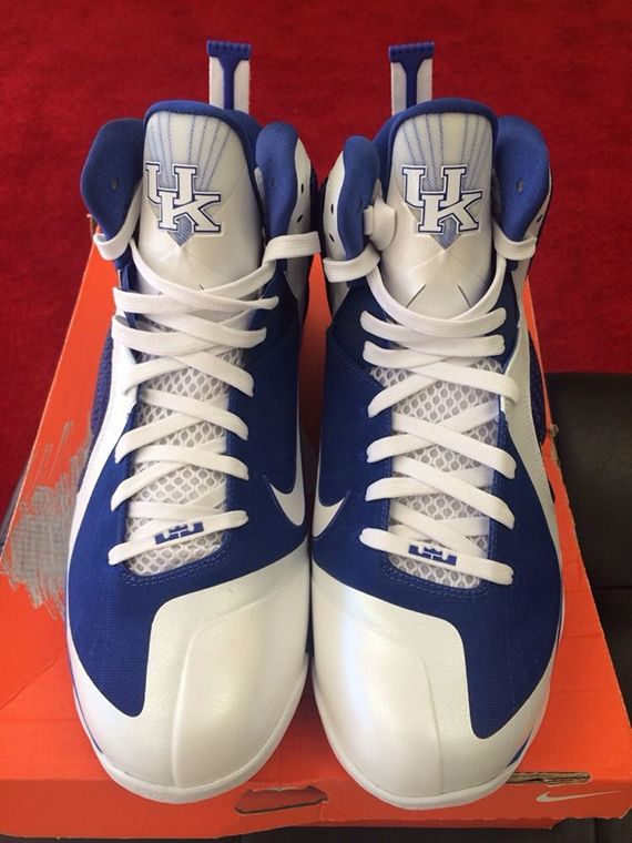 cheap for discount e5ecd 004a2 Nike LeBron 9 Kentucky Wildcats PE on eBay