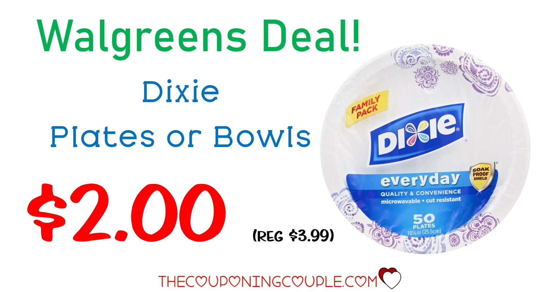 Dixie Plates Deal at Walmart! Stock Up! 0.48 (reg 2.48