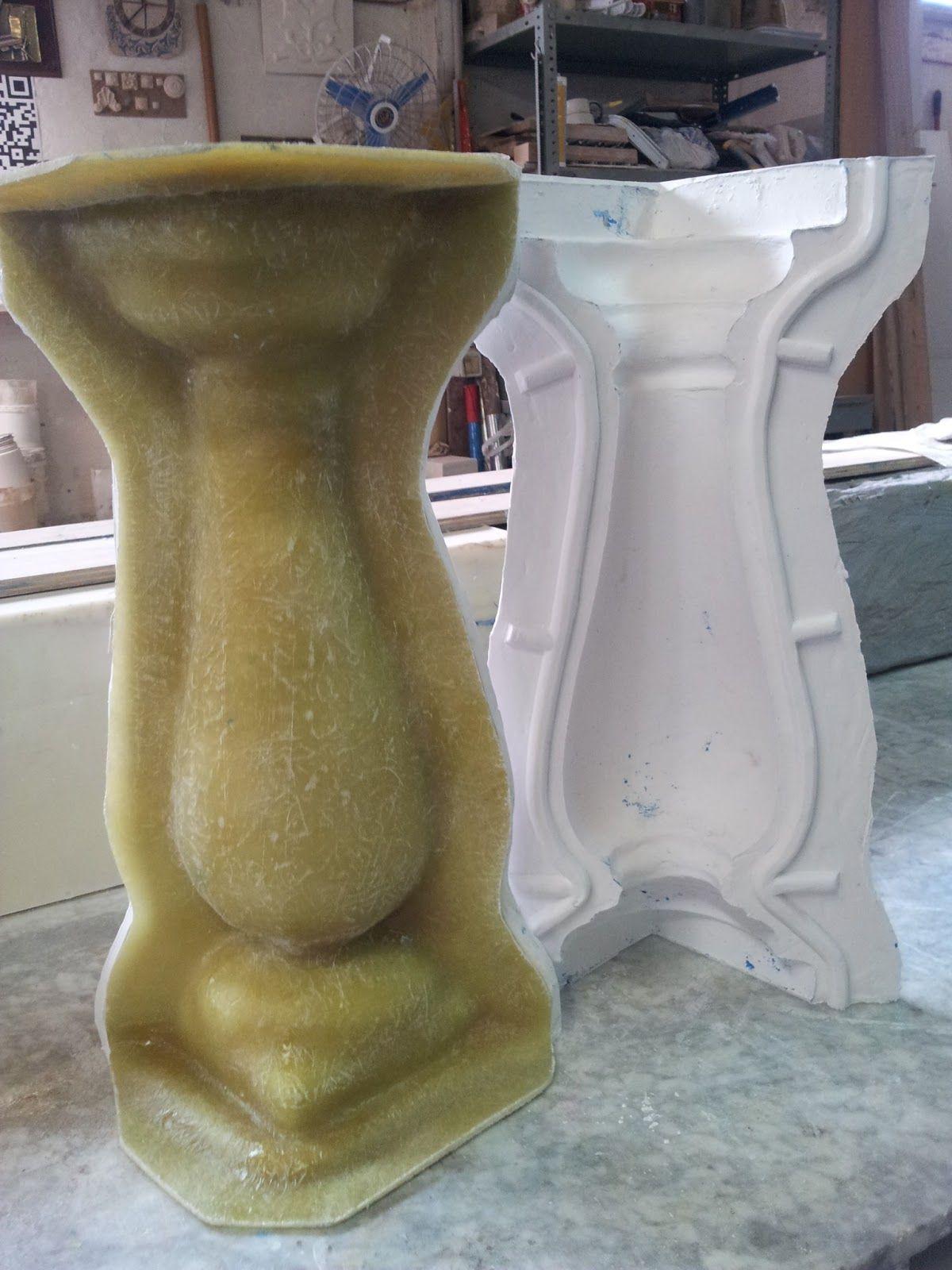 Molde de silicona con soporte de resina de polister y