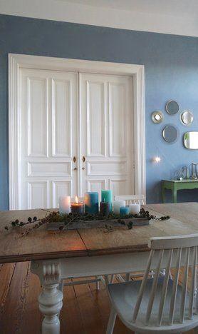 Erst 1 ○ #solebich #interior #einrichtung #esszimmer #diningroom - wohnzimmer wandfarbe blau