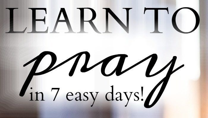 Learn to pray in only 7 days with this upcoming Bible study in October! Click to learn more!