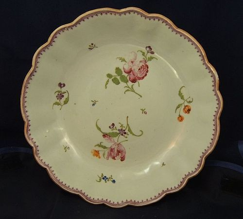 London Decorated Chinese Famille Rose Bowl Probably James Giles Rose Bowl