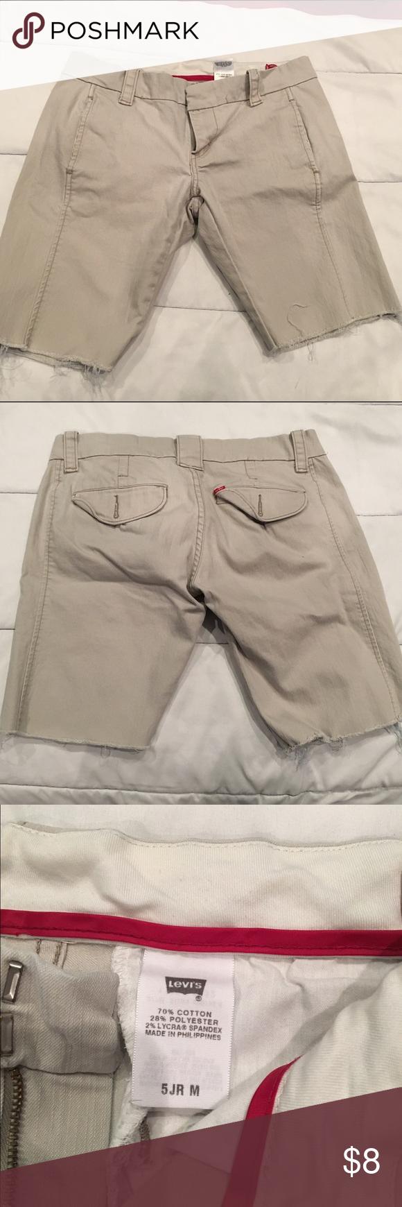 Levi Cut-offs Levi khaki cut-offs! They're about a 10 inch inseam. Shorts