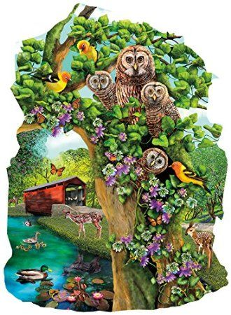 Owl Condo a 1000-Piece Jigsaw Puzzle by Sunsout Inc.