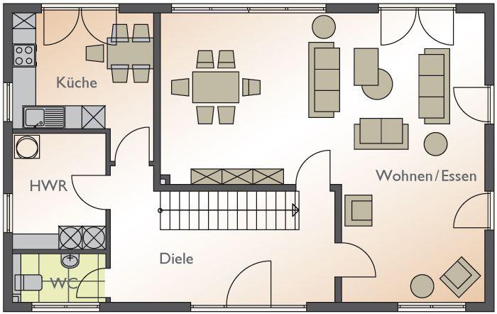 Grundriss einfamilienhaus erdgeschoss  Grundriss Erdgeschoss | Architektur | Pinterest | Erdgeschoss ...