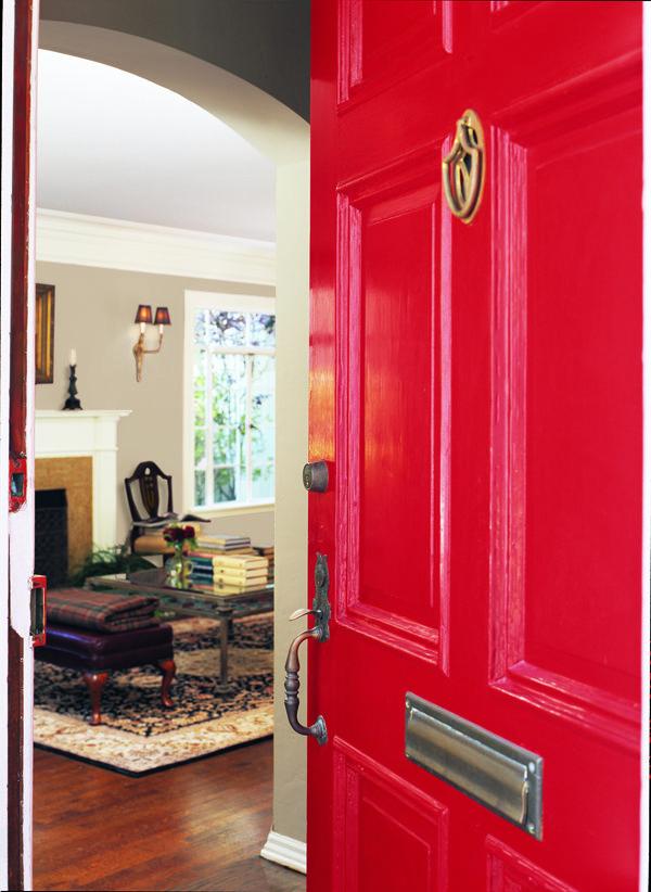 Dunn edwards paints paint colors door red contrast - Dunn edwards paint colors exterior ...