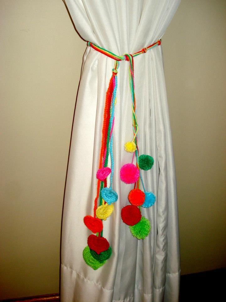 Agarraderas para cortinas al crochet faciles buscar con for Gancho para cortina