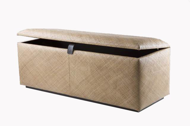 Rattan case ottoman by iBalDesigns