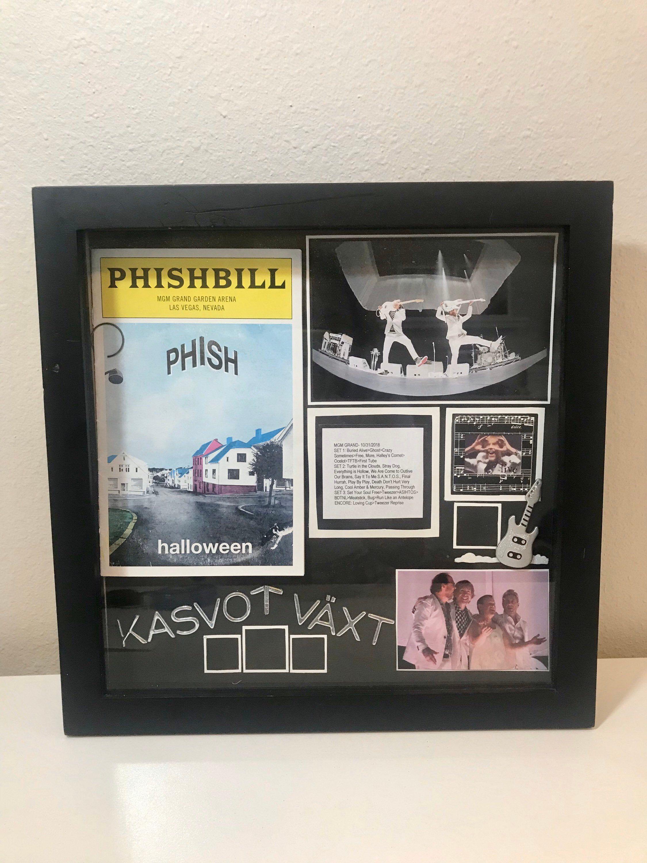 Phish Vaxt Halloween 2020 Phish Kasvot Växt Ticket Stub Phishbill Display Custom Shadow Box