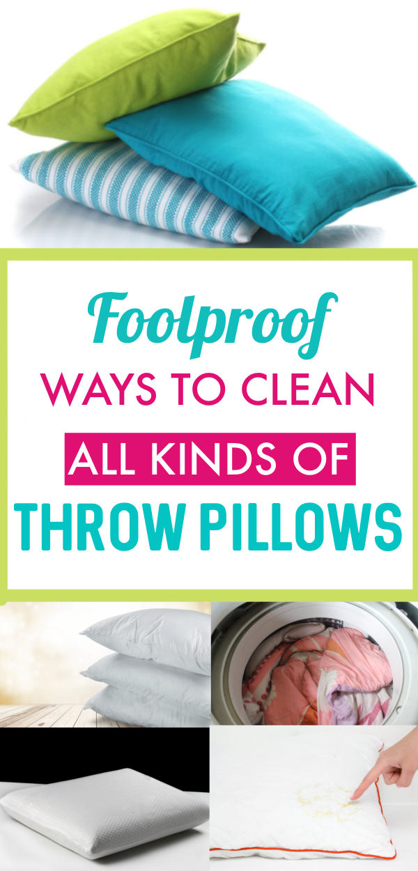 How To Wash Throw Pillows In 2020 How To Wash Throw Pillows Throw Pillows Cleaning Pillows