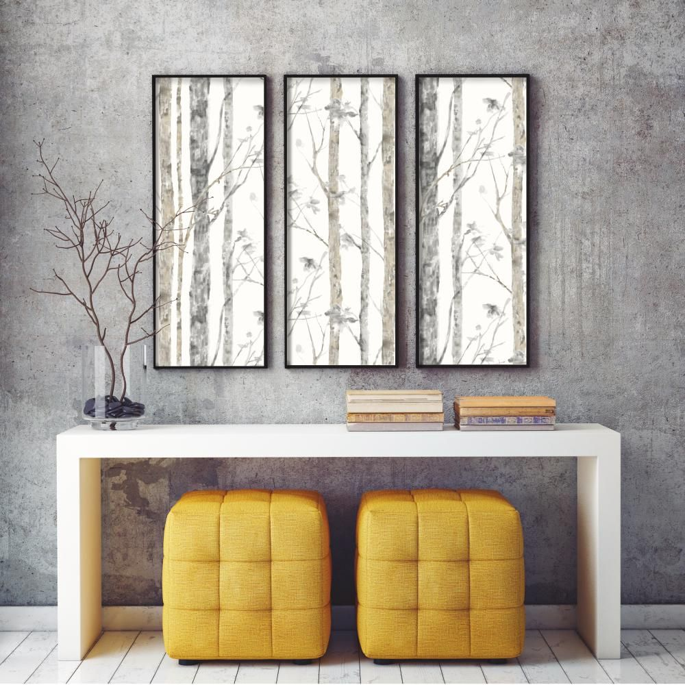 Rmk9047wp Roommates Roommates By York Rmk9047wp Birch Trees Peel And Stick Wall Decor Peel And Stick Wallpaper Removable Wallpaper Decor