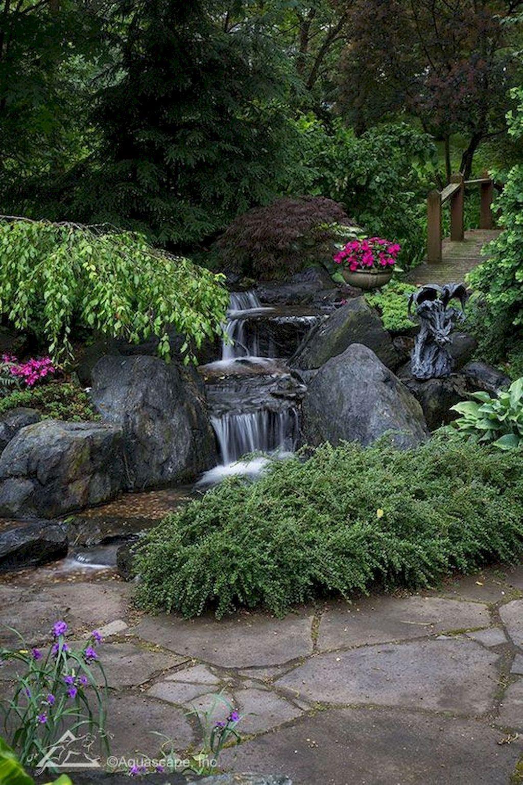 55 Fresh and Beautiful Backyard Ponds and Waterfall Garden ...