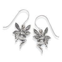 Antiqued Sterling Silver Fairy Earrings