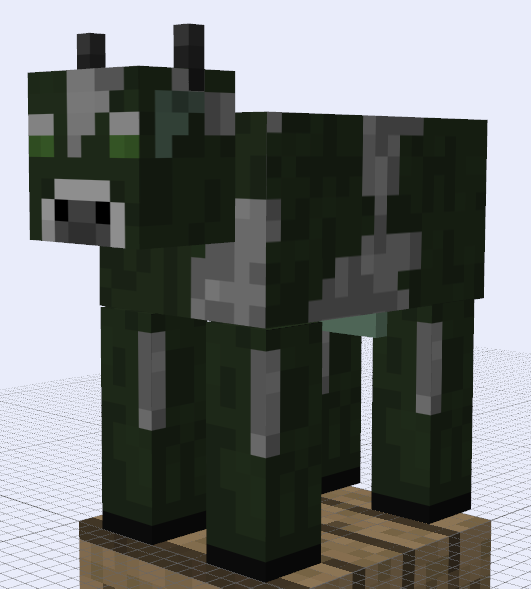 Papercraft Mad Cow Paper Crafts Minecraft Mobs Cow