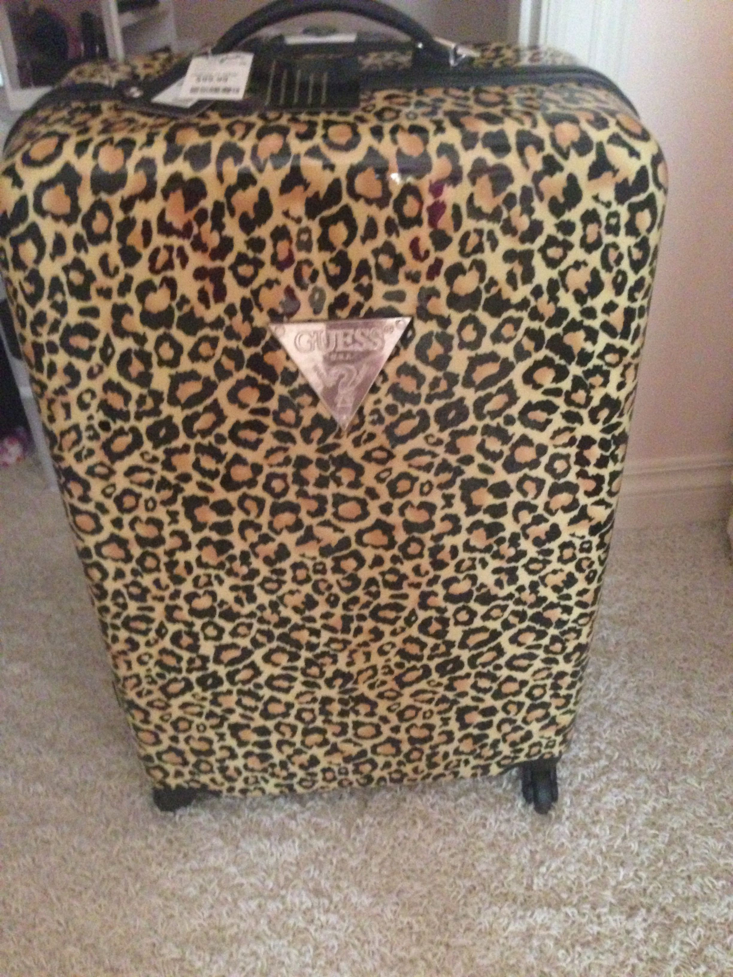 Leopard Guess Luggage Traveling In Style