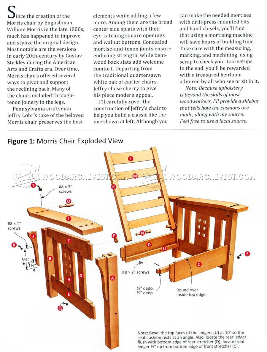 Bon Modern Morris Chair Plans   Furniture Plans